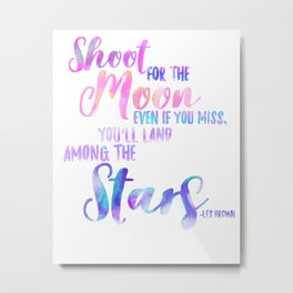MoonQuote Metal Print