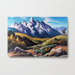 American Masterpiece 'The Sheep Herder' by Thomas Hart Benton Metal Print
