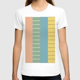 Pastel Retro Stripes T-shirt