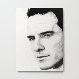 Michael Fassbender Metal Print