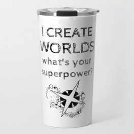 I Create Worlds Travel Mug