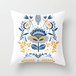 Scandinavian Folk Art 011 Throw Pillow