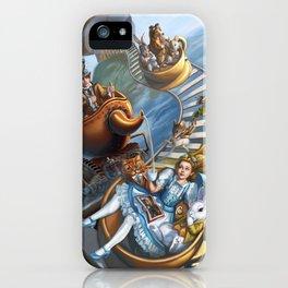 Steampunk Alice in Wonderland Teacups iPhone Case