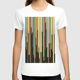 Night's End - Abstract, Geometric Color Stripes T-shirt