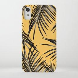 Black Palm Leaves Dream #6 #tropical #decor #art #society6 iPhone Case