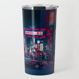 Cyberpunk Tokyo Street Travel Mug