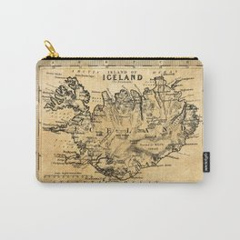 Old Map of Iceland Carry-All Pouch