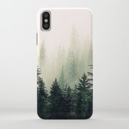 Foggy Pine Trees iPhone Case