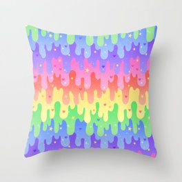 Rainbow Slime Throw Pillow