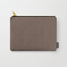 COCOA BROWN solid color Carry-All Pouch