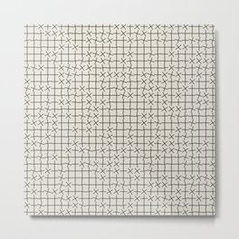 Grid Pattern 002 Metal Print