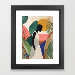 Tropical Girl Framed Art Print