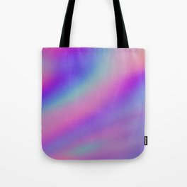 Iridescent Holographic Abstract Colorful Pattern Tote Bag