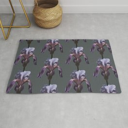 iris: shades of grey Rug