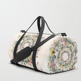 Circle of life- floral Duffle Bag