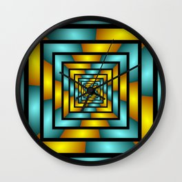 Colorful Tunnel 2 Digital Art Graphic Wall Clock