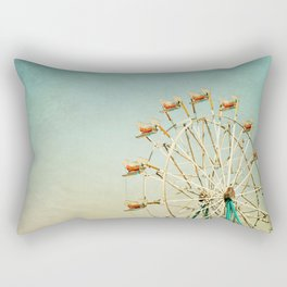 """""""I see nothing in space as promising as the view from a Ferris wheel."""" Rectangular Pillow"""