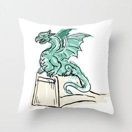 Dragon bridge Throw Pillow