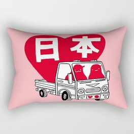 """""""Love Japan: Truck"""" ( 50% of the profits for this design will go to the Japanese Red Cross ) Rectangular Pillow"""