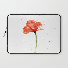 Abstract Red Poppy Flower Laptop Sleeve