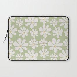 Floral Daisy Pattern - Green Laptop Sleeve