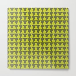 TRIANGLES, CHARTREUSE Metal Print