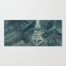 Red and the Empire State Building Canvas Print