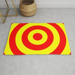 Target (Red & Yellow Pattern) Rug