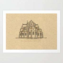 Holy Lady Church Art Print