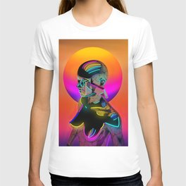Android with a movie camera T-shirt