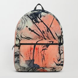 Perennial: abstract floral painting by Alyssa Hamilton Art Backpack