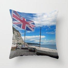 Beer beach Jurassic Coast Devon England Throw Pillow