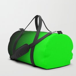 Black Lime Green Neon Nights Ombre Duffle Bag