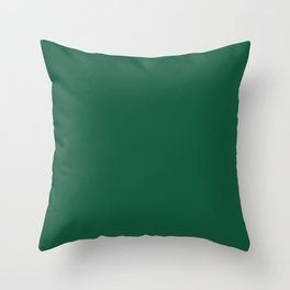 Simply Forest Green Throw Pillow