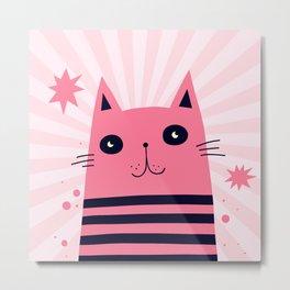 Dreaming Kitty Metal Print