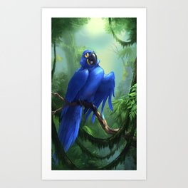 Moseley the Hyacinth Macaw Art Print
