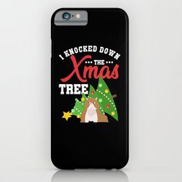 Christmas Cat I Knocked Down The Christmas Tree iPhone Case