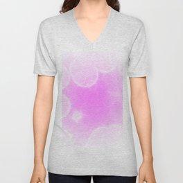 Gradient pink Unisex V-Neck