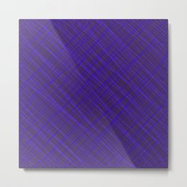 Royal ornament of their violet threads and luminous intersecting fibers. Metal Print