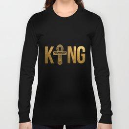King Husband Man With Egyptian Ankh Couple Long Sleeve T-shirt