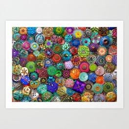Glass Buttons Art Print
