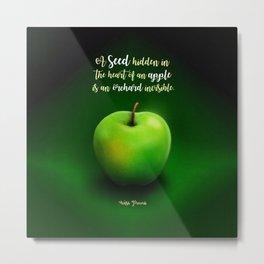 Apple Seed Metal Print