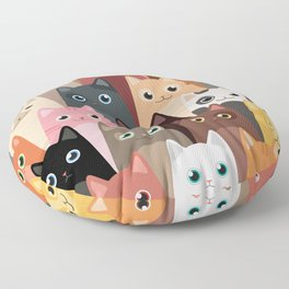 Cats Pattern Floor Pillow