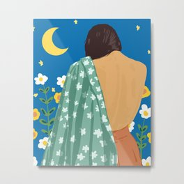 I Have Loved The Moon & The Stars Too Fondly To Be Fearful of The Night #illustration #painting Metal Print