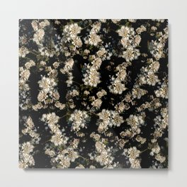 Pear Flower Pattern Metal Print