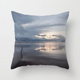 Lake Tyrrell at Sunset Throw Pillow