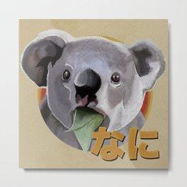 Surprised Koala Metal Print