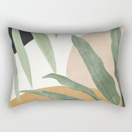 Abstract Art Tropical Leaves 4 Rectangular Pillow