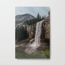 Yosemite National Park - Vernal Falls rainbow Metal Print