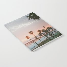 palm trees sunset vi / san clemente, california Notebook